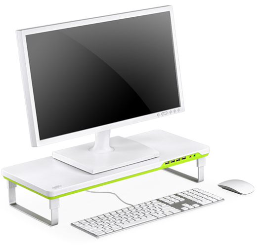 DEEPCOOL Mdesk F1 Monitor Stand Laptop Stand with Audio Jacks
