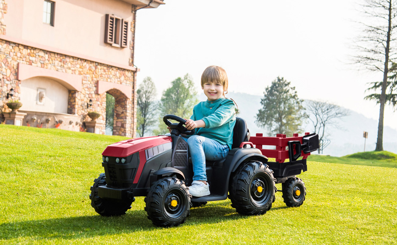 karlhome-Electric 12V Kids Ride On Tractor Car Toys Battery Wheels Music