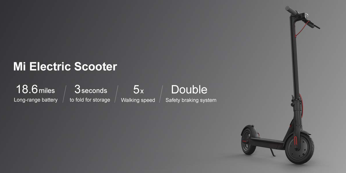 Xiaomi Mi M365 Electric Scooter, 18 6 Miles Long-range Battery, Up to 15 5  MPH, Easy Fold-n-Carry Design, Ultra-Lightweight Adult Electric Scooter -