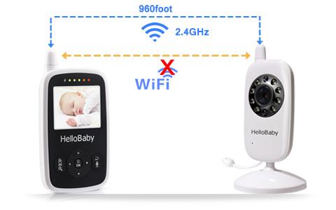 Hellobaby monitor inalámbrico para bebés