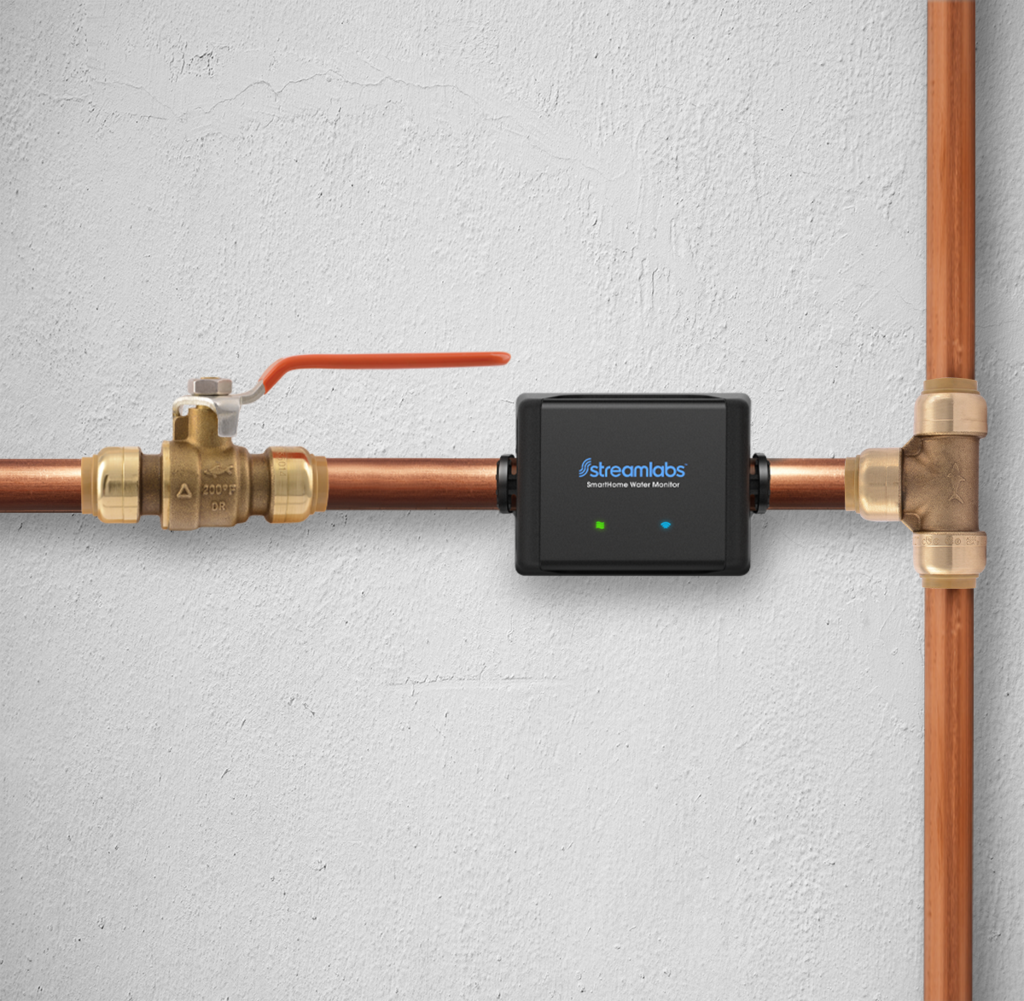 Streamlabs Smart Home Water Monitor with Wi-Fi - Detects Leaks & Water  Usage - No Pipe Cutting, 5-Minute Install, Real-Time Alerts - Newegg com