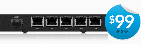 Ubiquiti Networks ER-X-SFP-US Advanced Gigabit Router with PoE and SFP, The  EdgeRouter X SFP Combines Cost-effective Routing Performance with The