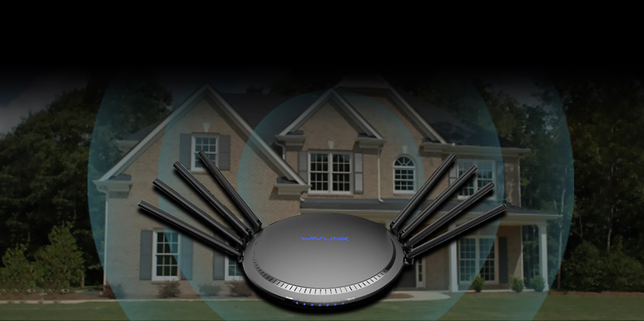 WAVLINK AC3000 TRI-BAND WIFI GIGABIT ROUTER WITH MU-MIMO, TOUCH LINK, QOS, PARENT CONTROL, PERFRECT CONTROL, PERFECT FOR MOST FAMILIES