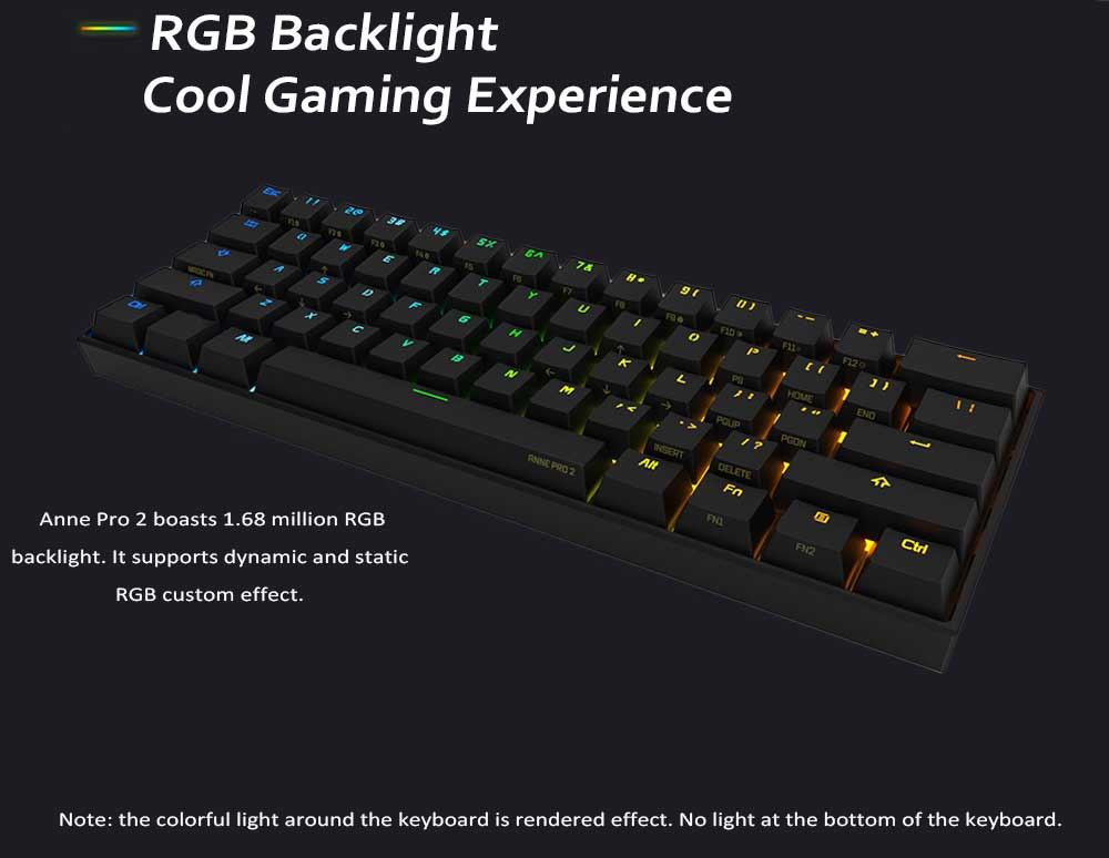 Anne Pro 2 Wired Wireless White Gaming Mechanical