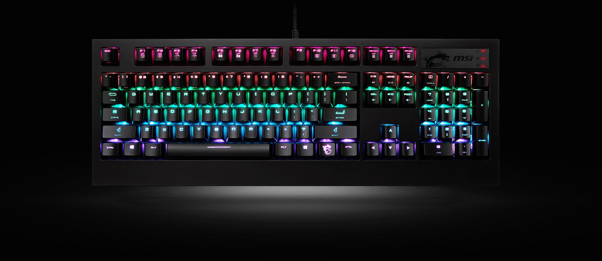 bc980c8e15d MSI GK-701 RGB Gaming Keyboard with Cherry MX SPEED RGB Silver ...