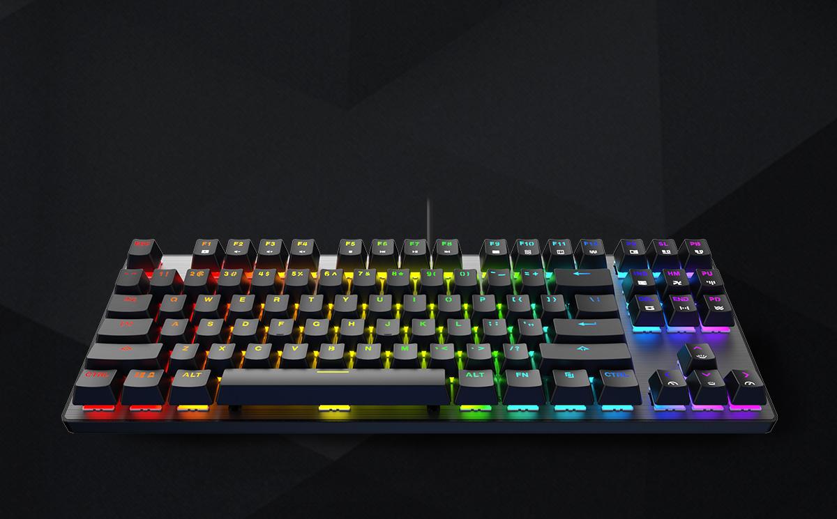 DREVO Tyrfing V2 RGB Wired Mechanical Gaming Keyboard 87 Keys Brown Switch Black