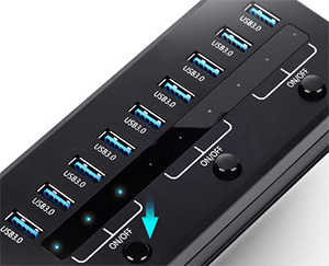 Orico 10 port super speed usb3 0 hub with smart 5v 2 1a - Can a usb 3 0 be used in a 2 0 port ...