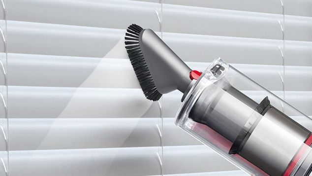 Soft dusting brush cleaning window shutters