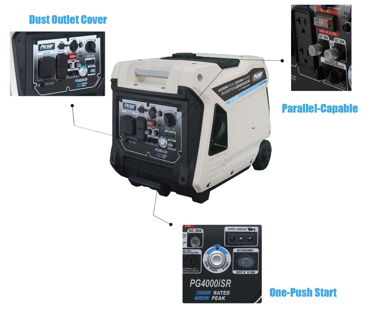Pulsar 4000 Watt Inverter Generator with Remote Start - Newegg com