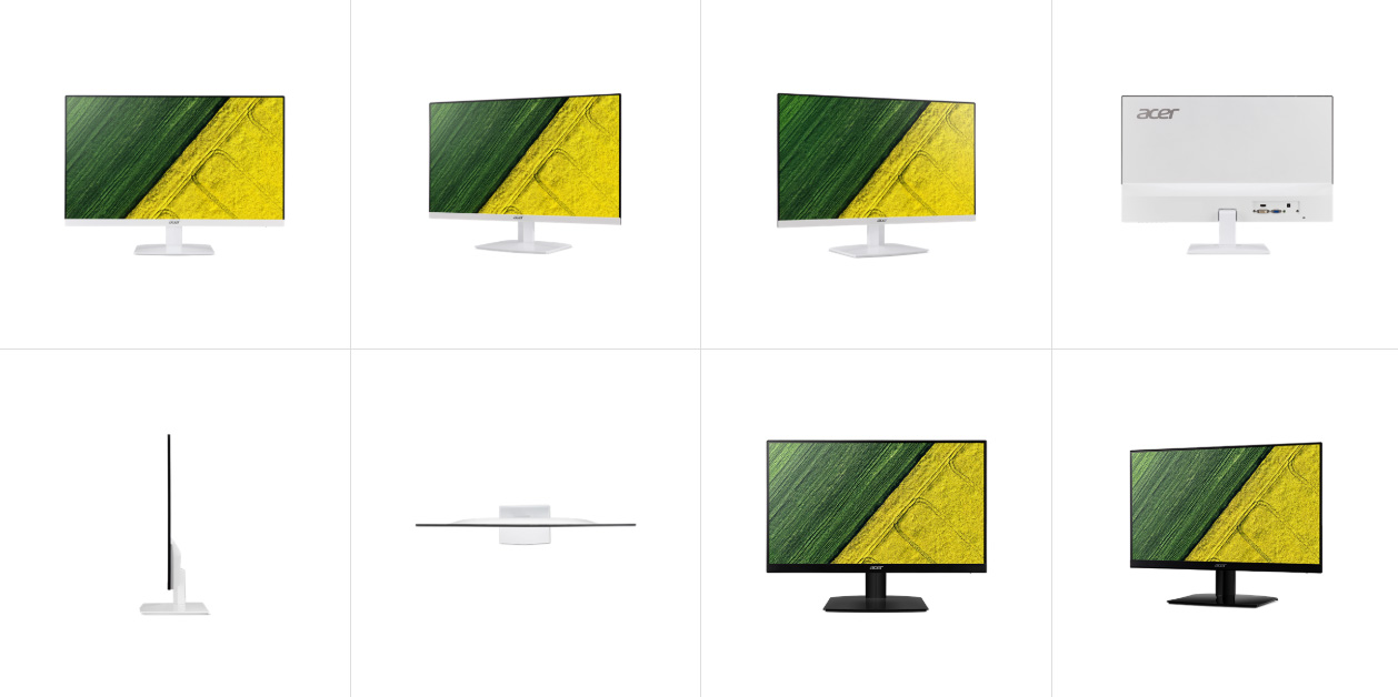 different angles of the Acer monitor