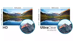 two same images showing different effect between HD and UltraClear