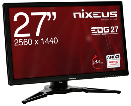 Nixeus EDG 27inch  IPS 2560×1440 AMD FreeSync™ Certified 144Hz Monitor