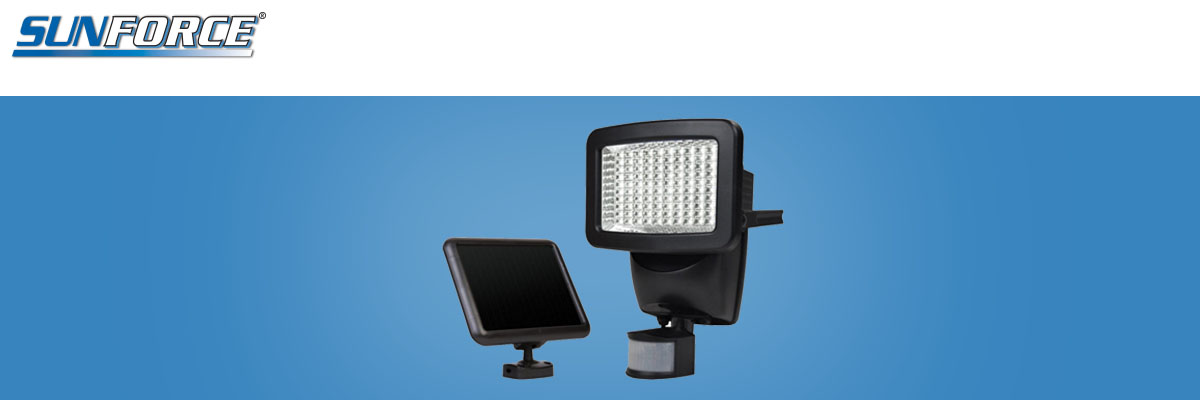 Sunforce 120 LED Solar Motion Activated Water Resistant Flood Light 82126