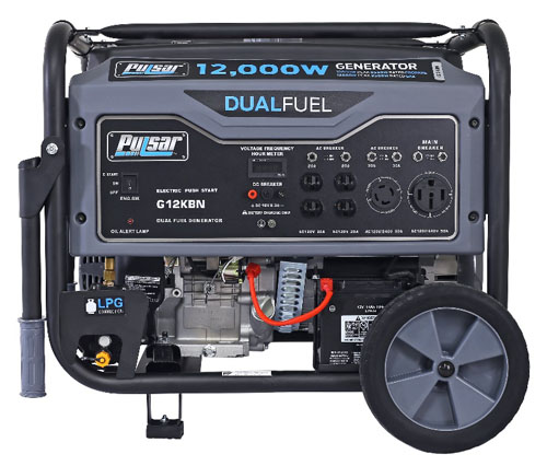 Pulsar 12,000W Dual Fuel Portable Generator in Space Gray