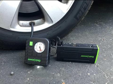 Bolt Power D28A 13600Mah Portable Car Jump Starter 500 Peak Amps with Compact Air Compressor