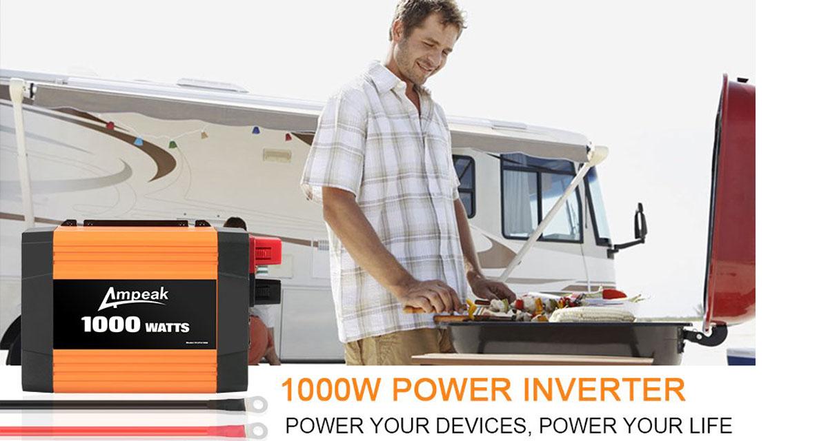 Ampeak 1000w power inverter 12v dc to 110v ac truckrv inverter ampeak 1000w power inverter 12v dc to 110v ac truckrv inverter publicscrutiny Gallery