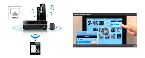AirPlay Allows Streaming Music to AV Receiver