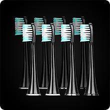 AquaSonic Black Series Ultra Whitening Toothbrush - 8 DuPont Brush Heads &  Travel Case Included - Ultra Sonic 40,000 VPM Motor & Wireless Charging - 4