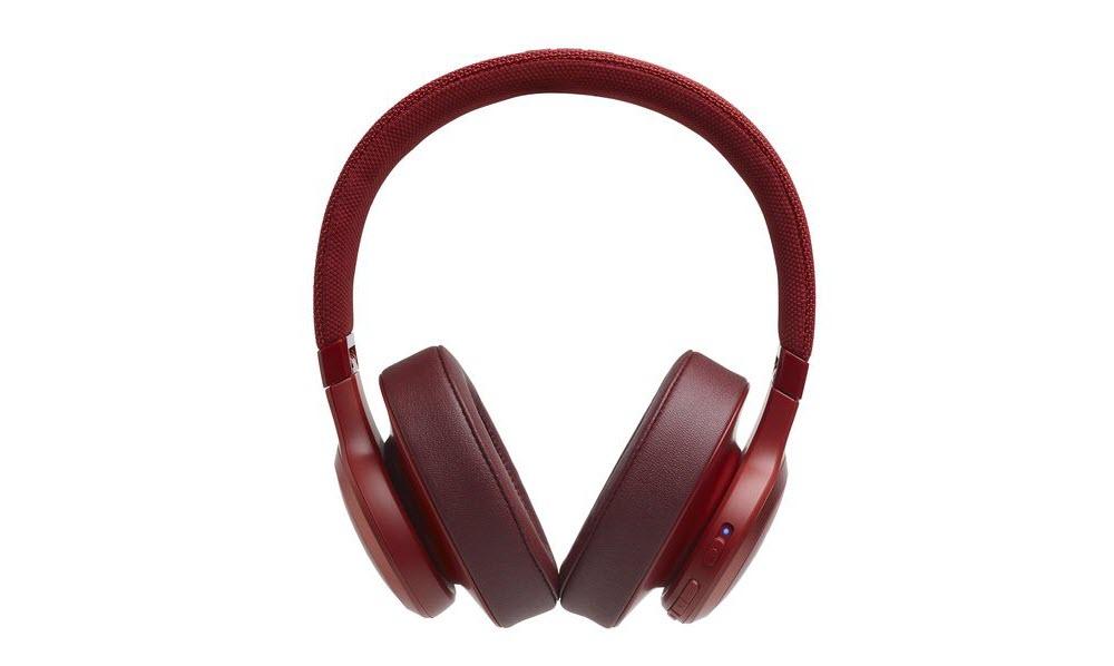 Jbl Live 500bt With Google Alexa Voice Bluetooth Over Ear Headphones Red Newegg Com