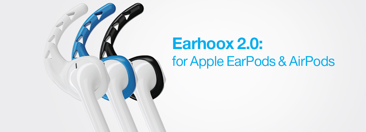 4b724103ecf Earhoox are the cure to loose earbuds, and were born from the idea that  earbuds should stay comfortably in your ear. Simply stretch Earhoox onto  your Apple ...