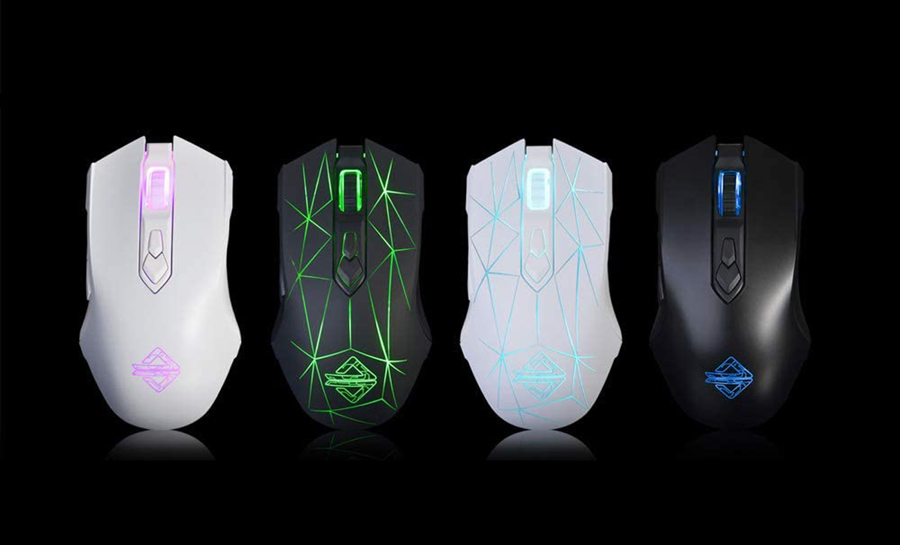 There are four different colors for Ajazz AJ52 gaming mouse.