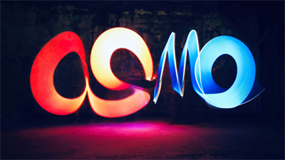 Osmo being spelt out through different lapsed light capture effects