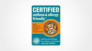 Logo of Certified asthma & allergy friendly