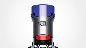 Close-up of Dyson V8 Animal vacuum power mode switch