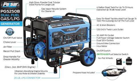 Pulsar 5250W Dual Fuel