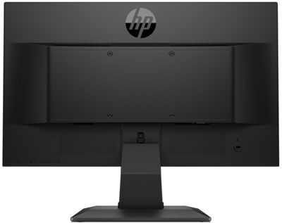 Rear of the HP P204 monitor