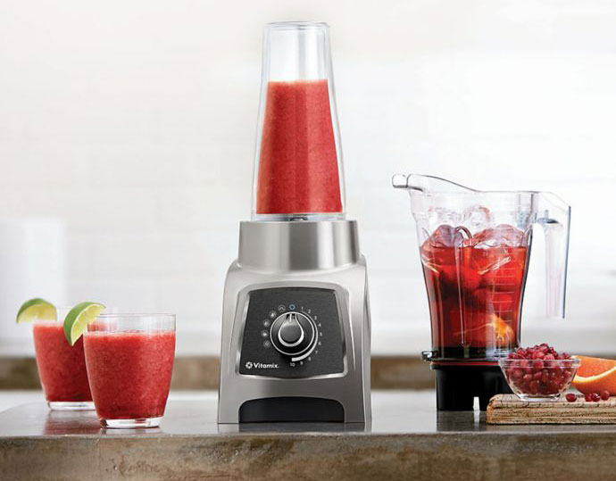 Vitamix S55 Personal Blender on a Marble Kitchen Counter