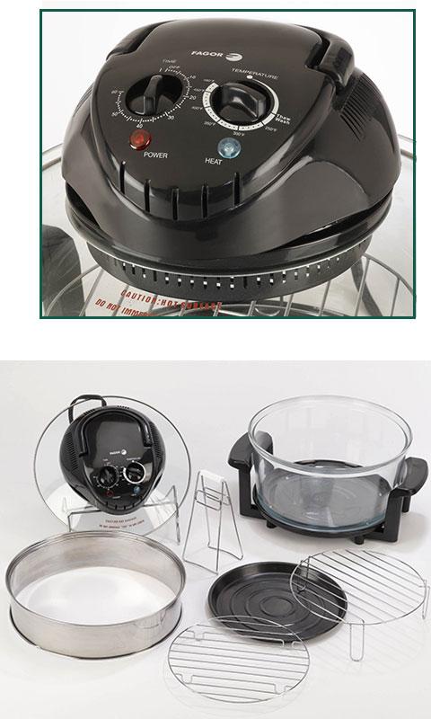 Fagor 670040380 12 Quart Halogen Tabletop Oven Black