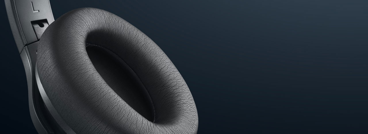 Closeup of the ear cushions