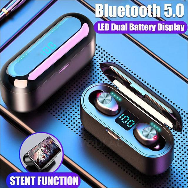 Ipx6 Waterproof Portable Mini Earbuds Stereo Surround Hi Fi Wireless Earbuds Led Digital Power Display Bluetooth Headset In Ear Wireless Earphone Newegg Com