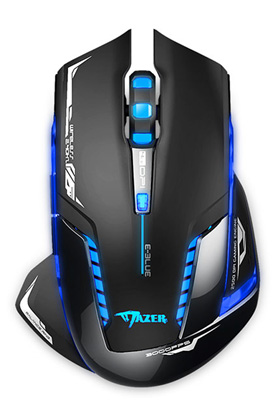 AGPtek E-3lue Mazer II 2500DPI USB 2.4GHz Wireless Optical Gaming Mouse LED for PC Laptop