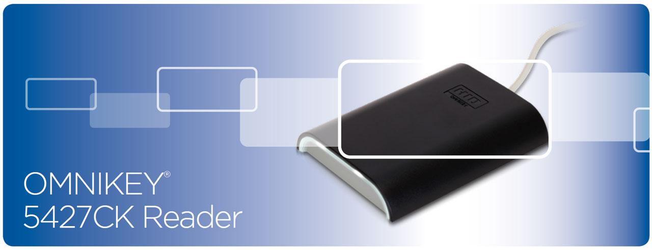 HID Global R54270001 Omnikey 5427CK Reader, USB 2 0, Native CCID & Keyboard  Emulation Reader, 13 56Mhz/125Khz, with Removable Card Retainer -