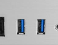 USB 3.0 Multi-media I/O ports