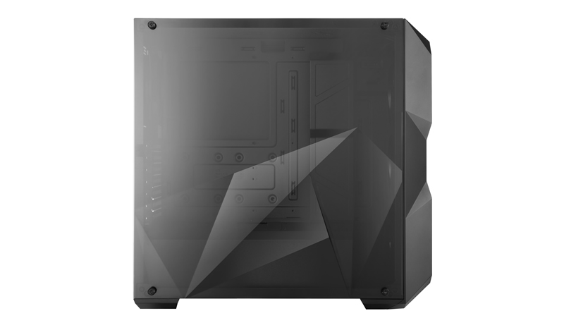 3eb438d795e Show off your build through the uniquely shaped edge to edge transparent  side panel and enjoy the special lighting effects from different viewing  angles.