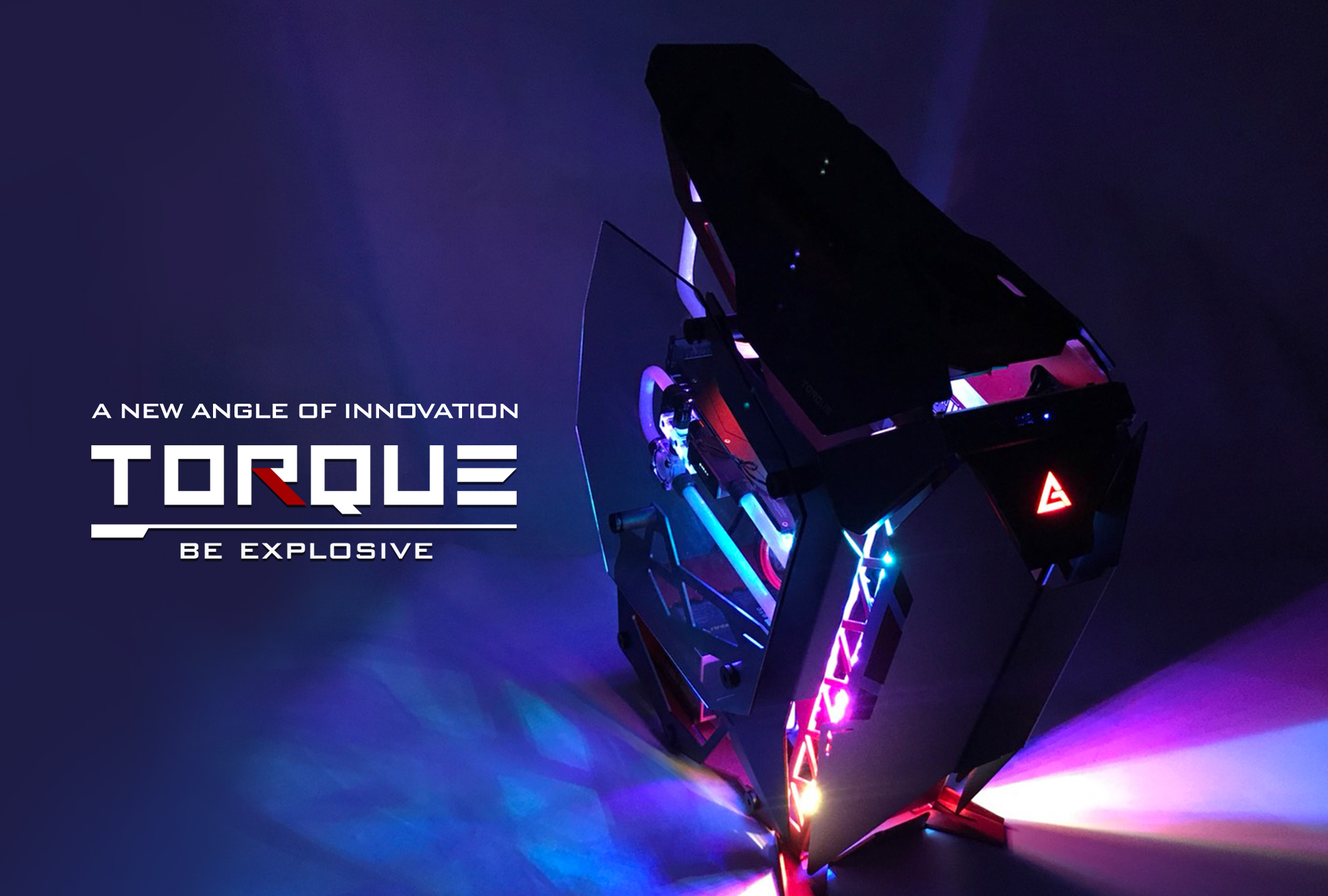 Antec TORQUE photo shoot showing off its lighting capability