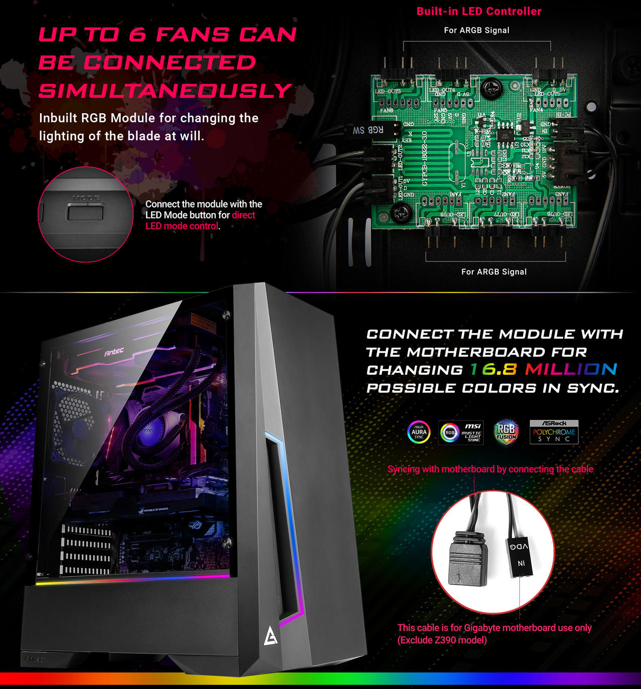 Antec Dark Phantom DP501 ATX Mid Tower Gaming Case
