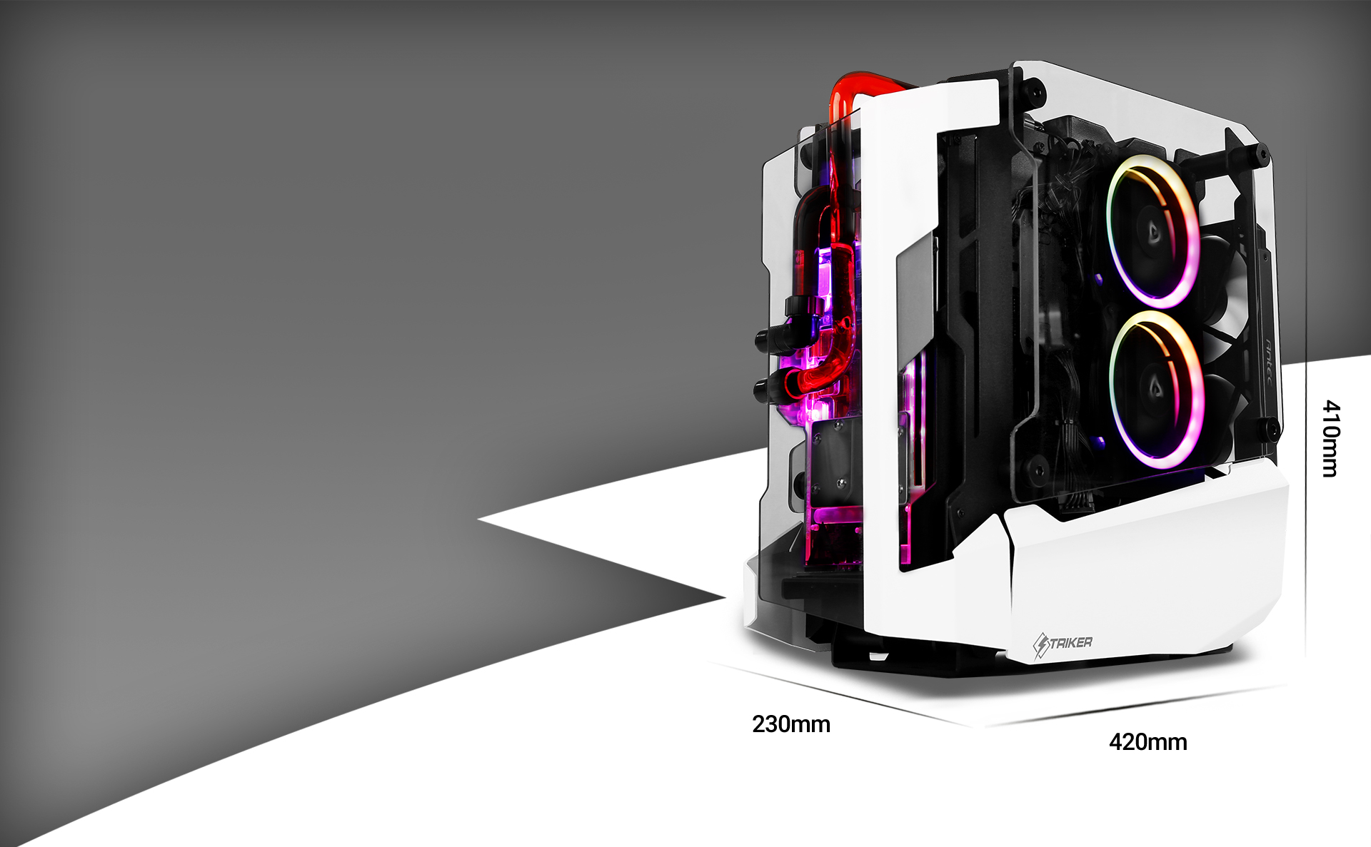 Antec STRIKER Aluminum and Steel ITX Computer Case Length, width and height