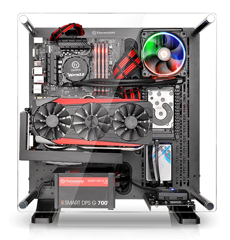 Thermaltake Core P3 Black Atx Open Frame Panoramic Viewing