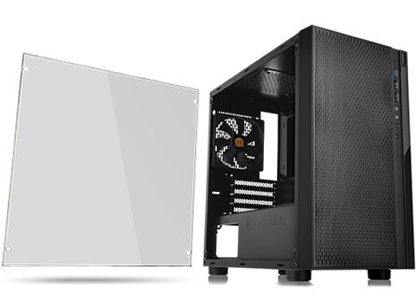 Thermaltake Versa H18 Tempered Glass Black SPCC Micro ATX Gaming Computer  Case CA-1J4-00S1WN-01 - Newegg com