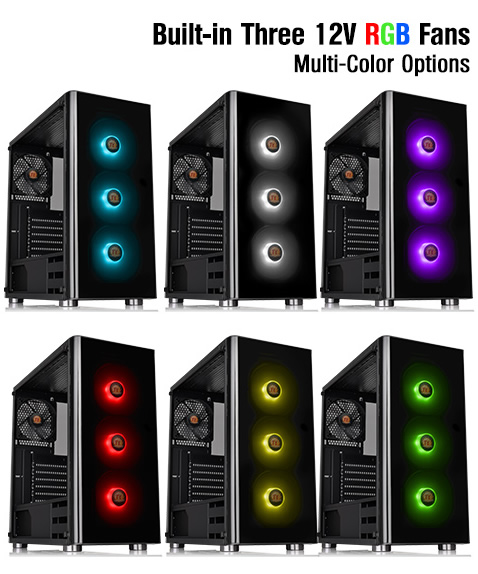 Thermaltake V200 Tempered Glass RGB Edition Mid-Tower Chassis  CA-1K8-00M1WN-01 - Newegg com