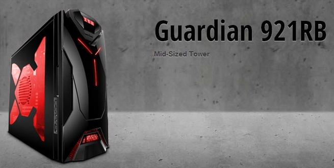 nzxt guardian 921 rb 921rb 001 rd black secc steel chassis computer case. Black Bedroom Furniture Sets. Home Design Ideas