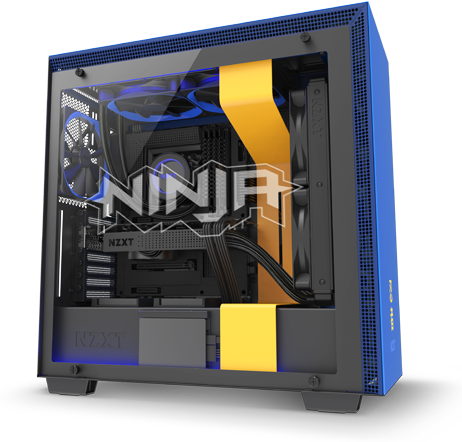 NZXT H700i - Licensed Ninja Edition - ATX Mid-Tower PC Gaming Case -  Radium-Etched Ninja Logo - Tempered Glass Panel - RGB and Fan Control -  Enhanced