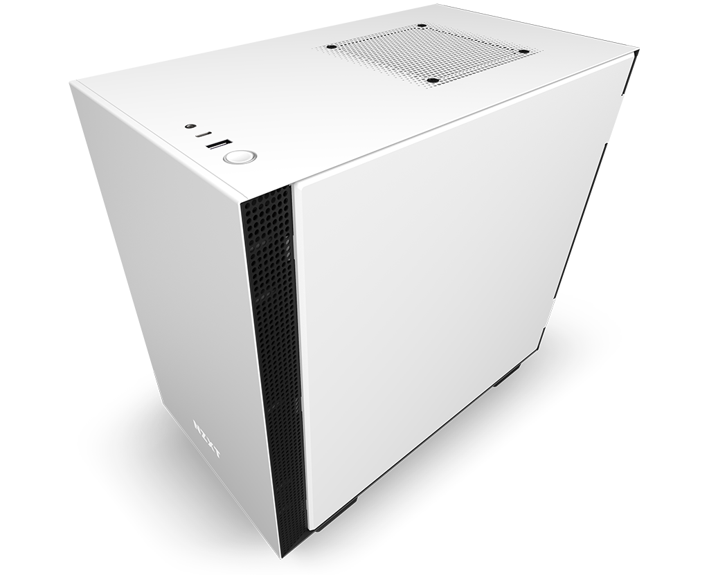 NZXT H210 Mini-ITX Case Facing Down to the Left