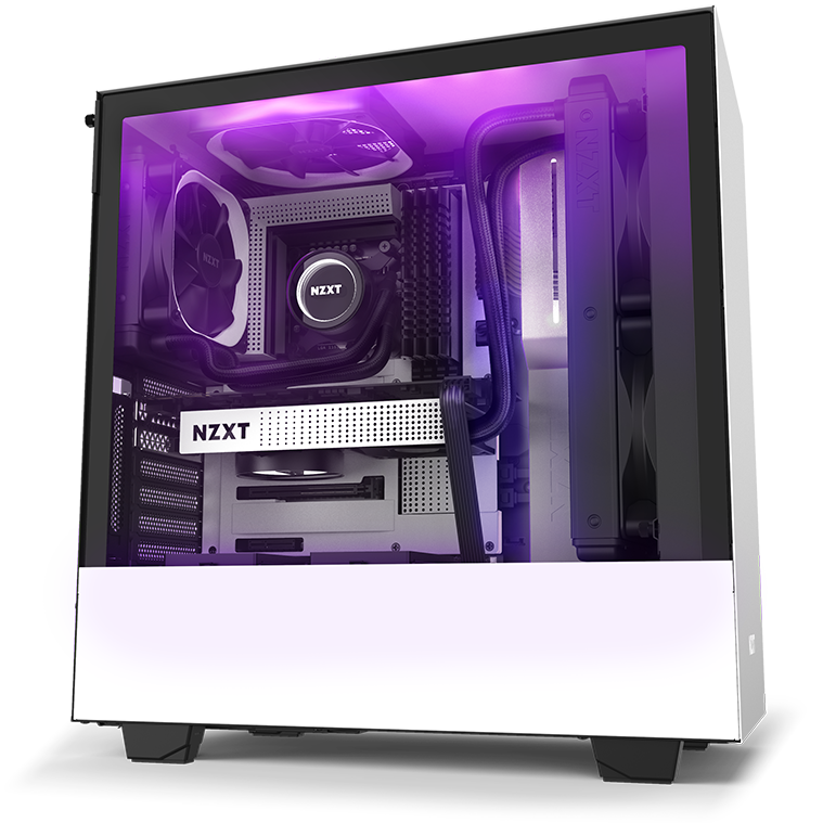 NZXT H Series H510i Case Facing to the Right, Fully Loaded with Components