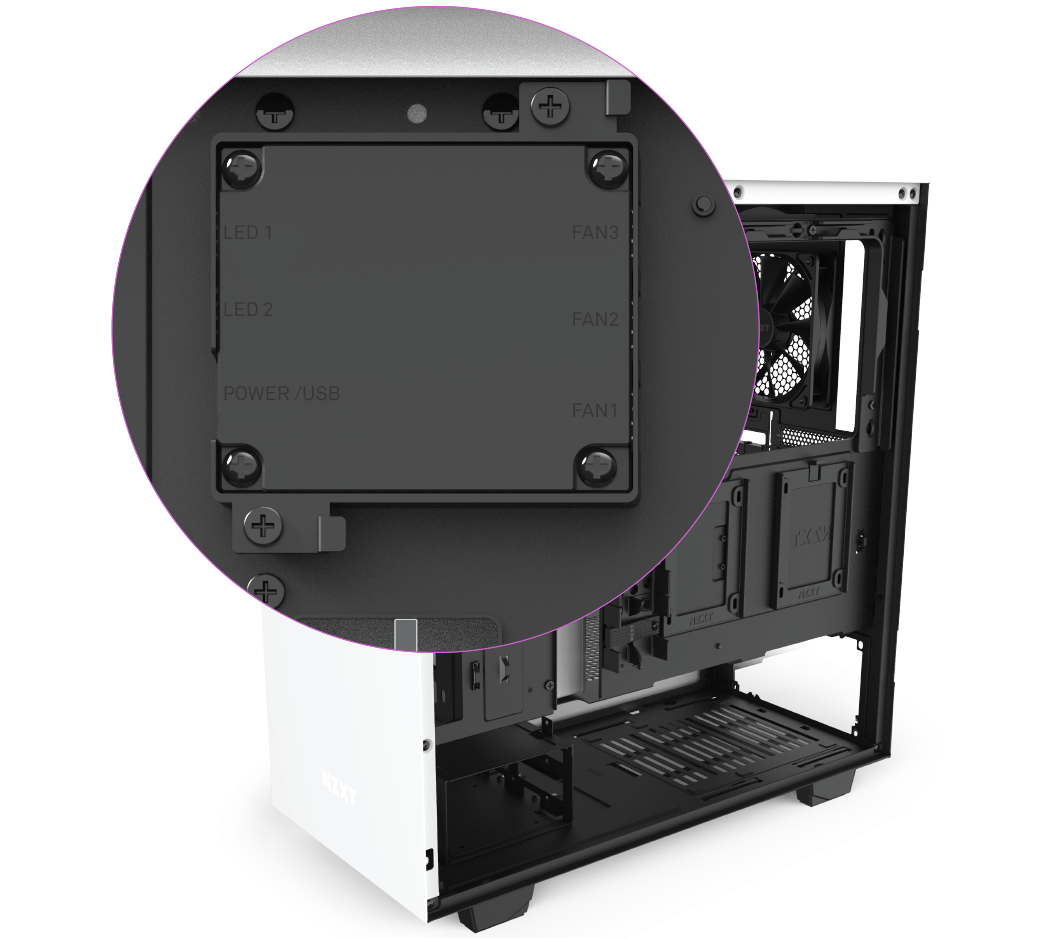 Closeup Shot of the NZXT H Series H510i Case's Radiator-Mounting Bracket