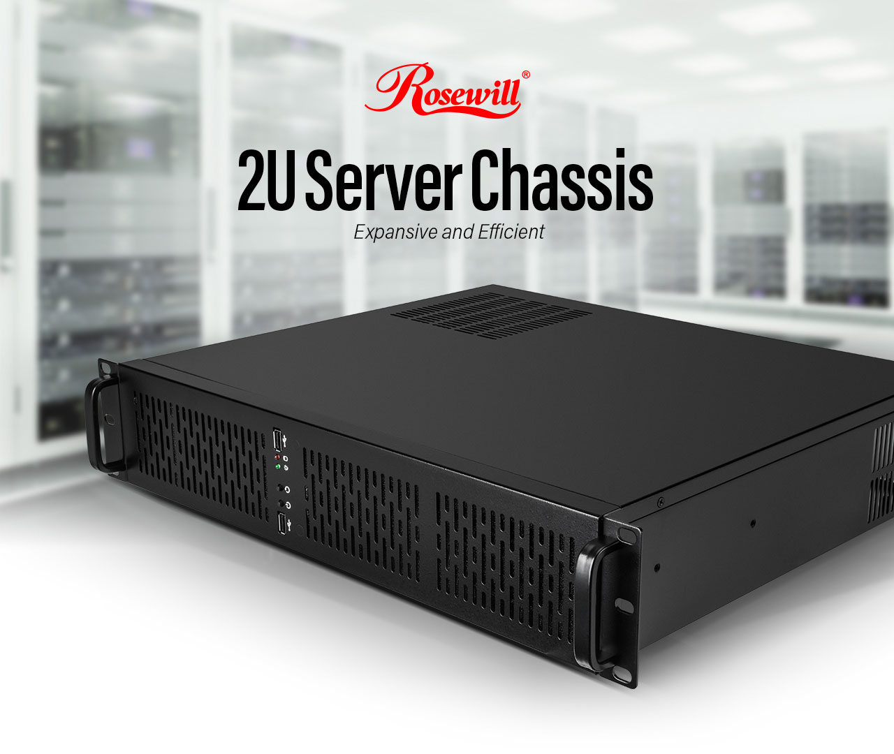 Rosewill RSV-Z2600 - 2U Rackmount Server Case / Chassis - 4 x 3 5